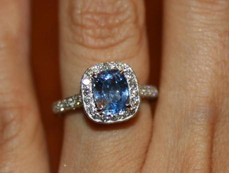 Sapphire With A Halo Is Heavenly