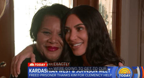 Kim Kardashian and Alice Marie Johnson Meet For The First Time