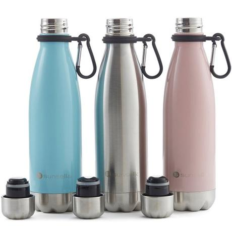 Vacuum Insulated Stainless Steel Water Bottle With Carrier Clip