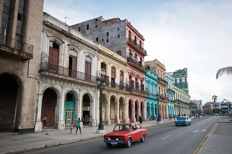 Destinations with colourful buildings- Havana- Cuba-weathered pastel buildings