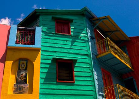 Destinations with colourful buildings- La Boca