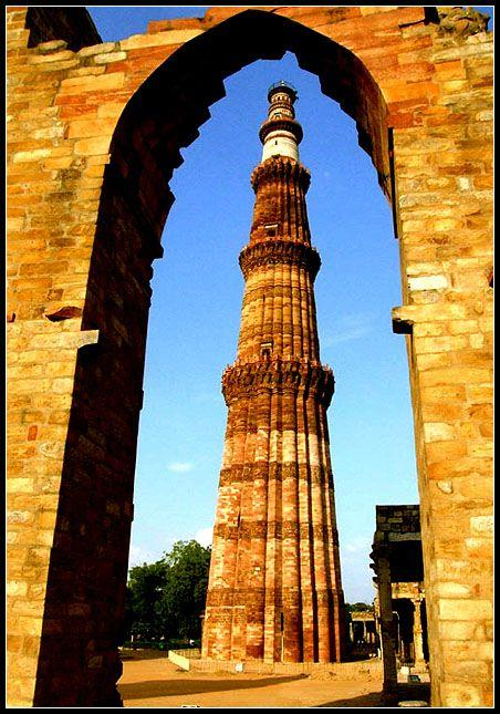Qutub Minar, New Delhi, India Great way to end our trip to India