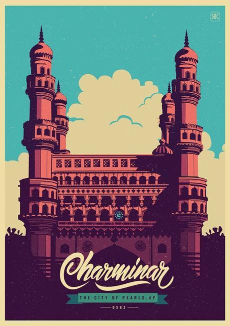 HYDERABAD, by ranganath krishnamani on Behance | Celebrating | India | Art Direction | Illustration | City |