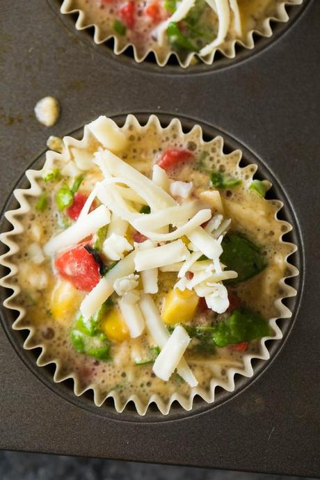 Time Saving Easy Breakfast Recipes; egg muffins in muffin tin