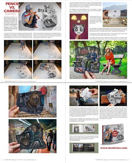 Artist Ben Heine Interview in Colored Pencil Magazine