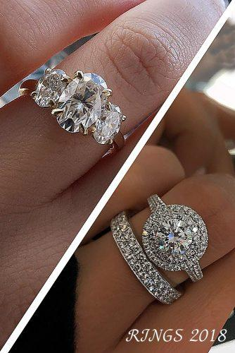 engagement ring trends 2018 collage