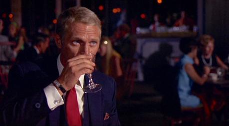 Steve McQueen's Navy Suits as Thomas Crown