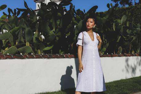 ASOS summer white midi dress