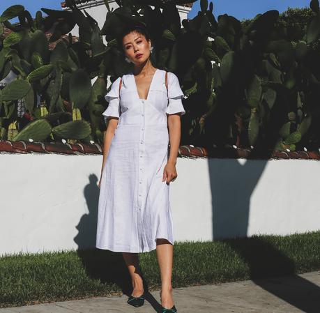 white midi dress outfit inspiration