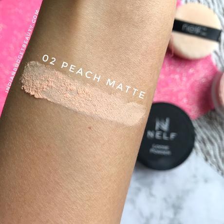 NELF USA Peach Matte Loose Powder swatch