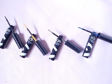New Launch Oriflame The One BrushStroke Eyeliners Shades, Swatches, Application