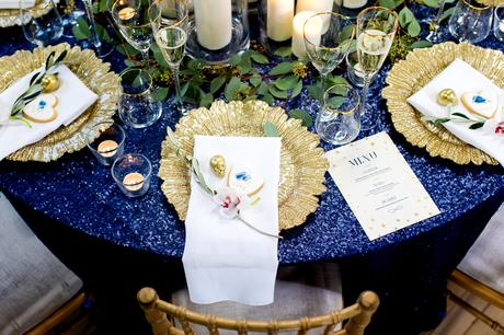 River Mills Ballroom Wedding Photography Alternative wedding in gold and blue