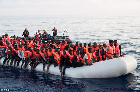 Italy interior Minister Matteo Salvini says migrants 'will only see Italy on a postcard'.