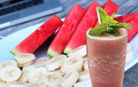 Watermelon and Banana Shake