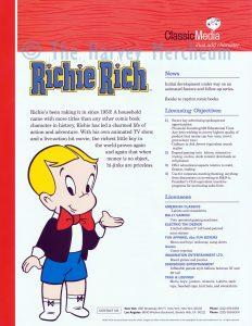 2004 Classic Media advertising Richie Rich page