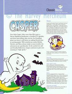 2004 Classic Media advertising Casper front page