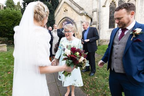 Smiling and laughing guests at Yorkshire Wedding