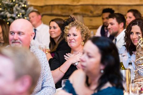Guest tears up during speeches at York Wedding