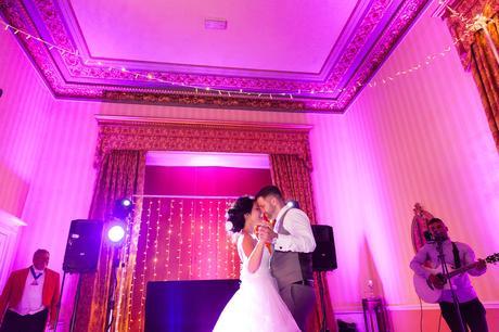 First Dance Wedding Photography Tips & Advice couple dance in purple light