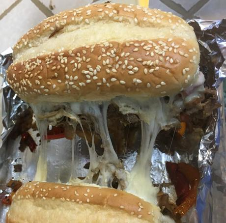 Philly Cheese Steak Baked Sandwiches