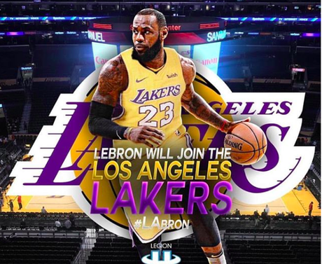 LeBron James will be playing b-ball with the Lakers