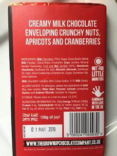 The Grown Up Chocolate Company Fruit & Nut Milk Chocolate