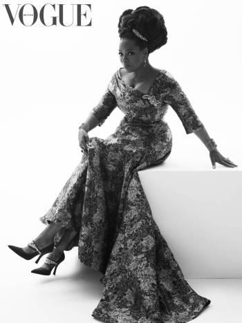 Queen Oprah looks amazing for the August Issue of British Vogue