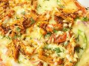 Naan Pizza Recipe (Garlic Grilled Chicken Pizza)