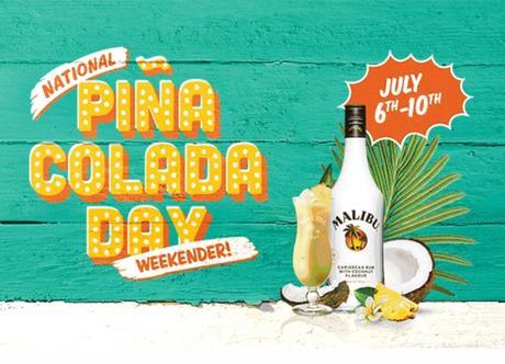 Free Pina Colada from Malibu