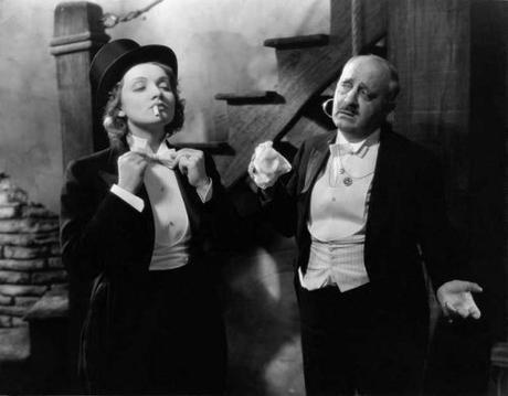 Marlene Dietrich dons a Tuxedo in Morocco 1930