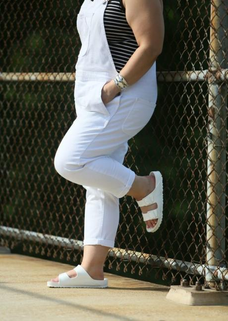 What I Wore: Gap White Overalls