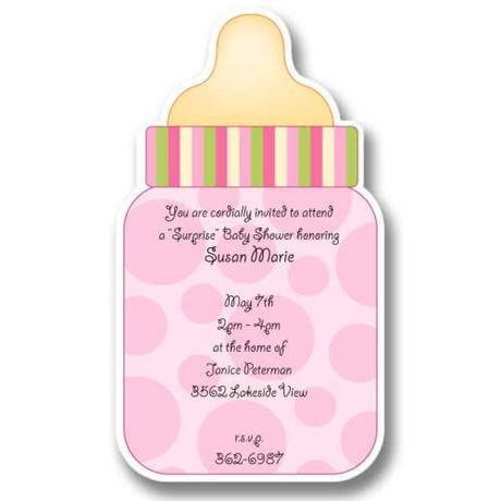 Bottle Baby Shower Invitations Paperblog