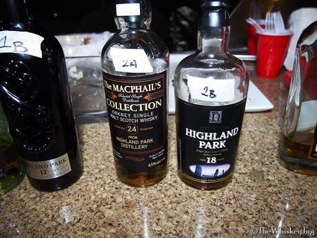 Malt Nuts: Highland Park 20-25 Years Mega Tasting Round 2 - 2A: The Macphail's Highland Park 24 years: 43% - X Cask, 2B: Highland Park 18 years (old bottle): 43% - ex-Bourbon and ex-Sherry