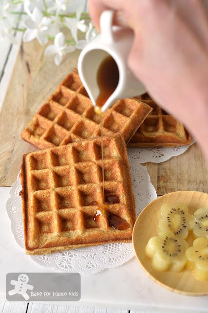 crispy butter nestum cereal waffles