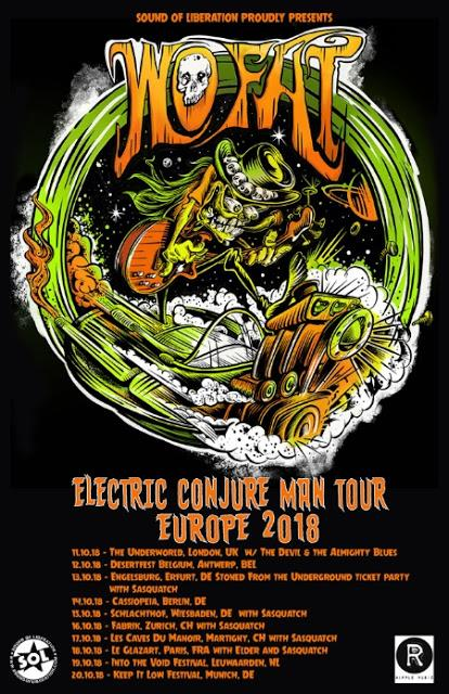 "Texan heavy rock legends WO FAT announce ""Electric Conjure Man Tour"