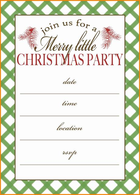Blank Christmas Party Invitations Paperblog