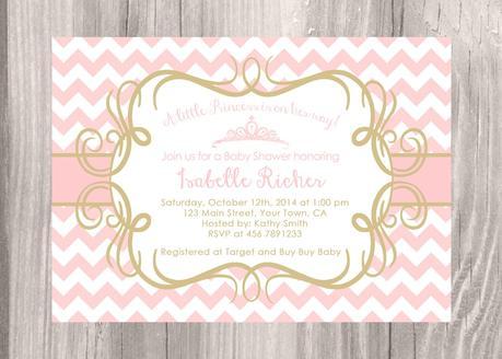 Pink chevron baby shower invitations paperblog pink chevron baby shower invitations filmwisefo