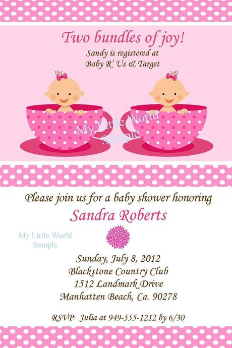Twin Baby Shower Invitation