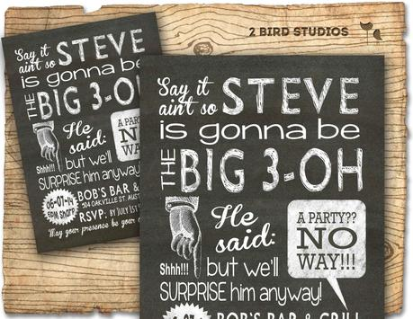 Surprise 30th Birthday Invitations For Men