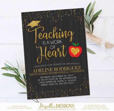 Teacher Graduation Invitations