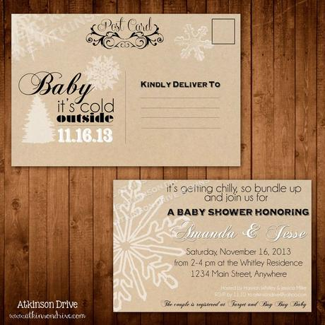Baby shower invitation postcards paperblog baby shower invitation postcards stopboris Images