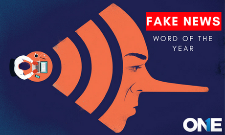 How fake news as word of the year assosiates with human rights activist.