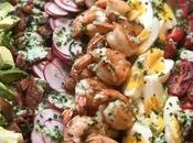 Shrimp Cobb Salad with Creamy Cucumber Yogurt Dressing