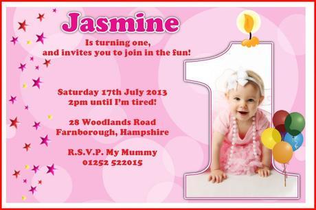 baby girl 1st birthday invitations paperblog