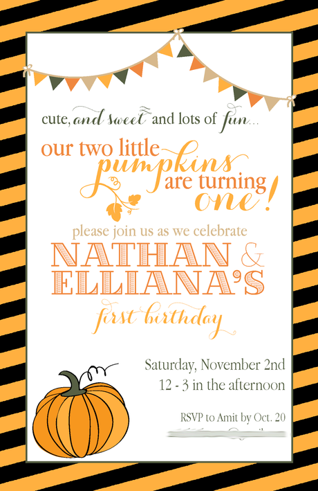 Fall Party Invites