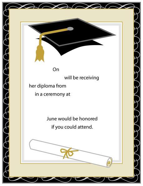 Sample Graduation Invitation Cards