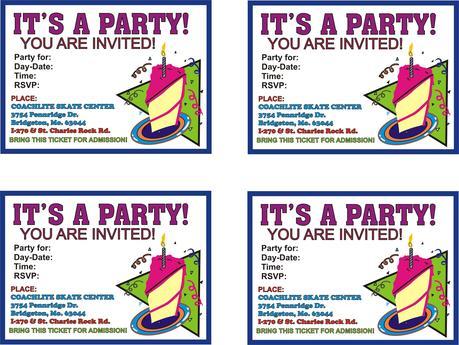 Birthday Invitation Cards Printable