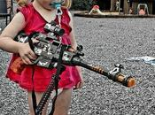 Lena Trying Theo's Toys. Will Probably Sketch This Photo Denounce Weapons #weapon #noweapon #gun #nogun #noviolence #photography