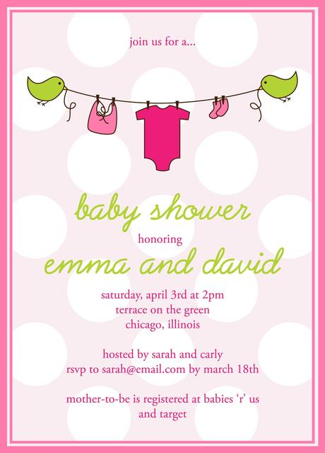 Electronic Baby Shower Invitations Templates Paperblog
