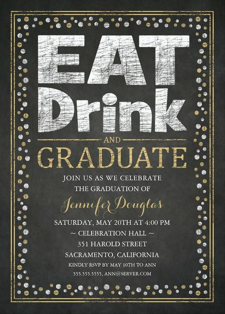 Graduation Open House Invitations